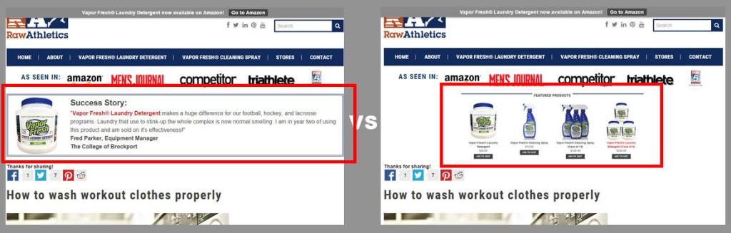A/B Ecommerce Split Test Content Marketing Blog