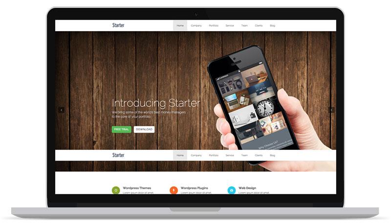 Starter Free One Page WordPress Theme