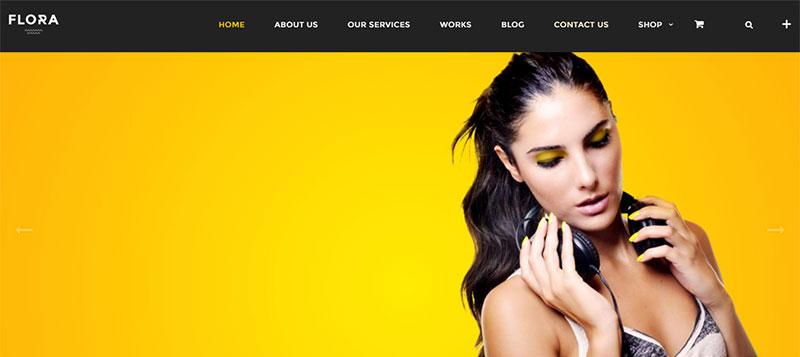Flora Premium Paid One Page WordPress Theme