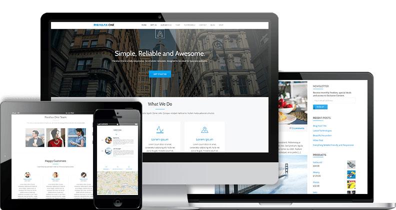 Parallax One WordPress Free Theme