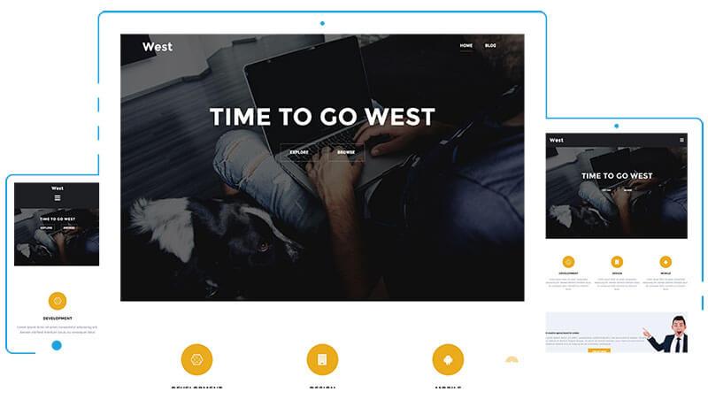 west-free-one-page-wordpress-theme
