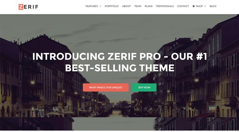 Zerif Pro One Page WordPress Theme